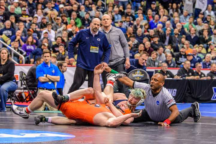 Bo Nickal Wins by Fall in the 2019 NCAA Semi-Finals
