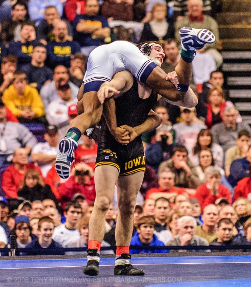 Brent Metcalf during the 2008 NCAA Finals